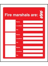 Fire Marshals Are (3 Names - Locations and Numbers)