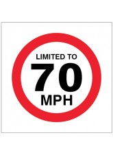 Limited to 70mph