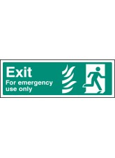 HTM Exit for Emergency use Only - Right
