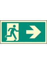 Intermediate Fire Exit Marker - Arrow Right