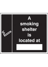 Smoking Shelter Located At (white/black)
