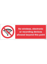 No wireless electronic or recording devices