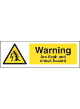 Warning Arc flash and shock hazard
