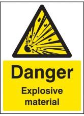 Danger Explosive Material