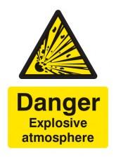 Danger Explosive Atmosphere BS5499