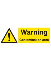 Warning Contamination Area