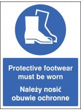 Protective Footwear Must Be Worn (English/polish)