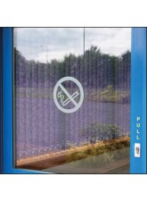 No Smoking Symbol - Frosted Vinyl