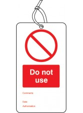 10 x Do Not use - Double Sided Tags