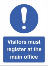 Visitors Must Register At the Main Office