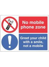No mobile phone zone Greet your child with a smile…