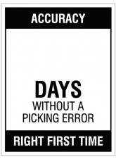 Accuracy … Days without a picking error, 300x400mm rigid PVC with wipe clean over laminate