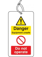 Danger Equipment Unsafe Do Not Operate D/S Tag (Pack of 10)