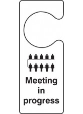 Meeting in Progress - Door Hanger