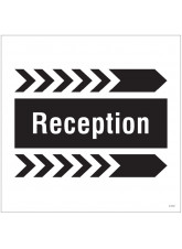Reception - Arrow Right - Site Saver Sign - 400 x 400mm