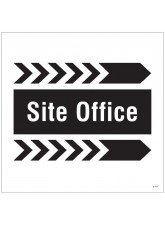 Site Office - Arrow Right - Site Saver Sign - 400 x 400mm