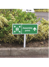Verge sign - Assembly point straight on