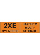 2xE Multi CylinDer Storage Placard - Self Adhesive Vinyl