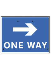 Re-Flex Sign - One way arrow right