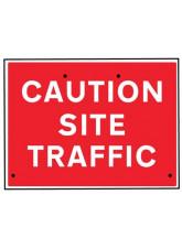 Re-Flex Sign - Caution site traffic
