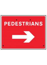 Re-Flex Sign - Pedestrians arrow right