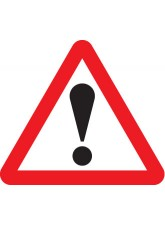 Fold Up Sign - Warning ! with Text Variant - 750mm Triangle