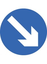 Fold Up Sign - Keep Right - 600mm Diameter