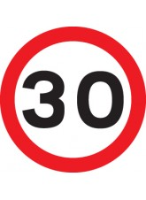 30 mph - Class R2 Permanent - 600mm Diameter