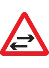 Two Way Traffic Crossing Ahead - Class R2 Permanent