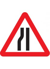Road Narrows Left Side - Class R2 Permanent