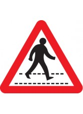 Pedestrians Crossing Ahead - Class R2 Permanent