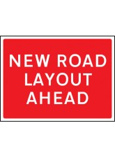 New Road Layout Ahead - Class RA1 - 600 x 450mm