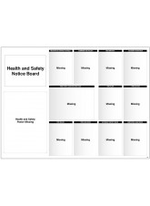 Site Notice Board with Doc Wallets (Health & Safety) - 5mm PVC - 1430 x 1075mm