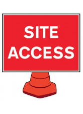 Reflective Cone Sign - Site access