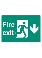 A4 Fire Exit Down