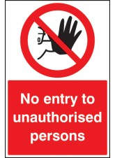 No Entry to Unauthorised Persons - Floor Graphic