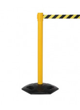 Retractable Industrial Barrier Post with 3.4m Webbing