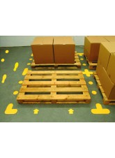 Yellow Floor Signal Markers (Cross) - 300 x 300mm (Pack of 10)