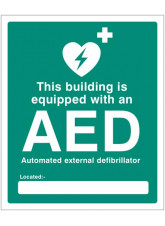This building is equipped with an AED Located