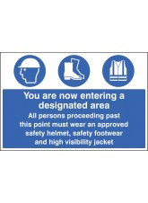 Entering Designated Area Must Wear Helmet, Footwear & Jacket