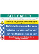 Site Safety - Hard Hat, Vest and Boots
