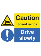 Caution Speed Ramps Drive Slowly