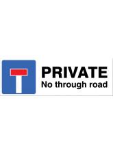 Private - No through road