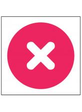 Cross - Self Adhesive Sticker