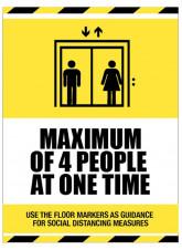 Social Distancing Lift Sign