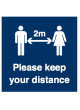 Please Keep your Distance - 1m / 2m / Generic Distance Options