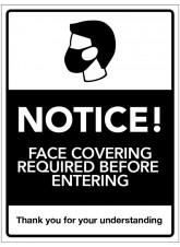 Notice! Face Coverings Required