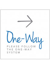 One Way - Arrow Right - Floor Graphic