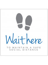 Wait here to maintain social distance - Floor Graphic